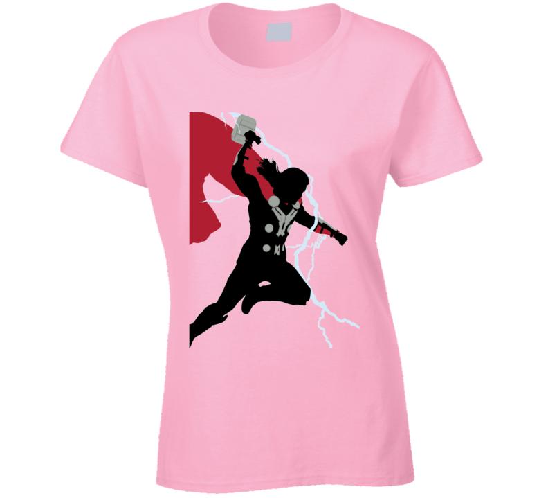Thor Comic Marvel Movie God Thunder Avengers Ladies T Shirt
