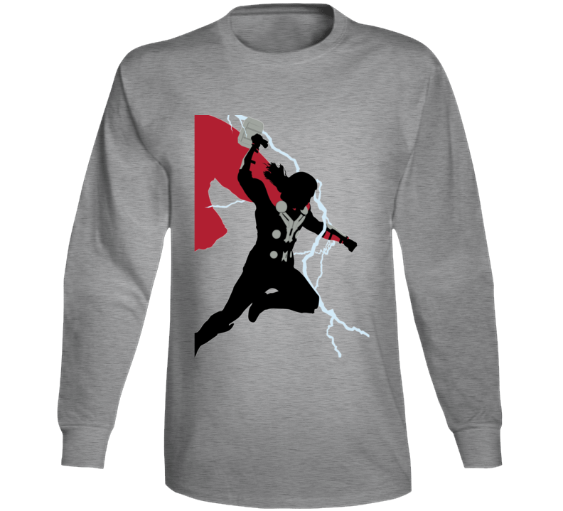 Thor Comic Marvel Movie God Thunder Avengers Long Sleeve Long Sleeve