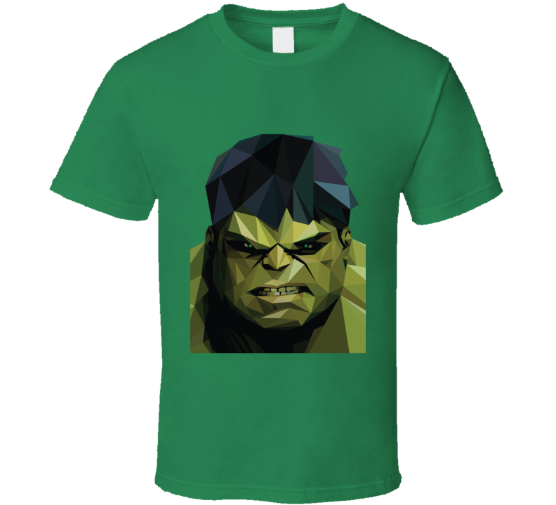 Incredible Hulk Comic Marvel Movie Avengers Geometrics T Shirt