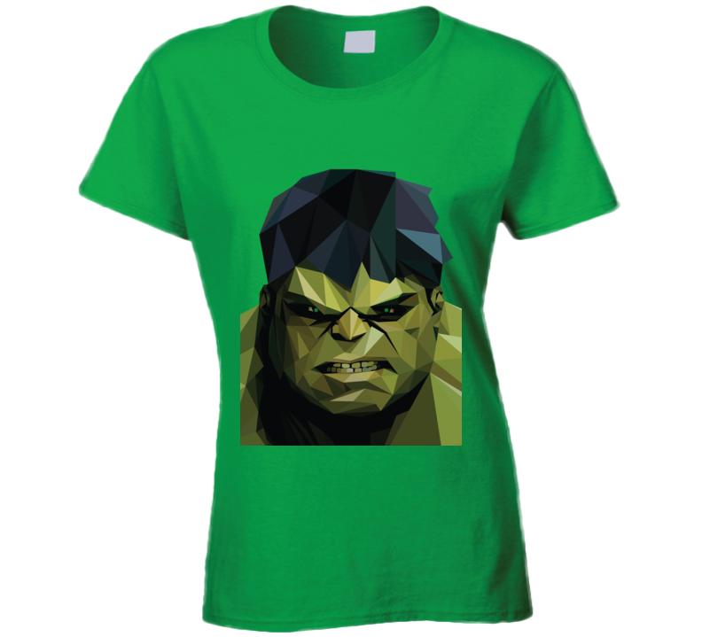Incredible Hulk Comic Marvel Movie Avengers Geometrics Ladies T Shirt