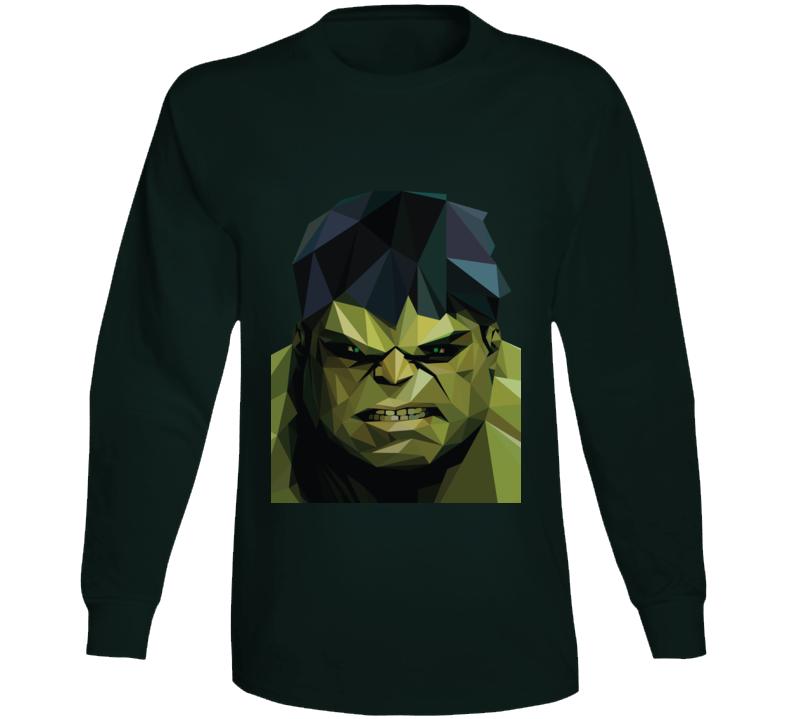 Incredible Hulk Comic Marvel Movie Geometrics Long Sleeve Long Sleeve