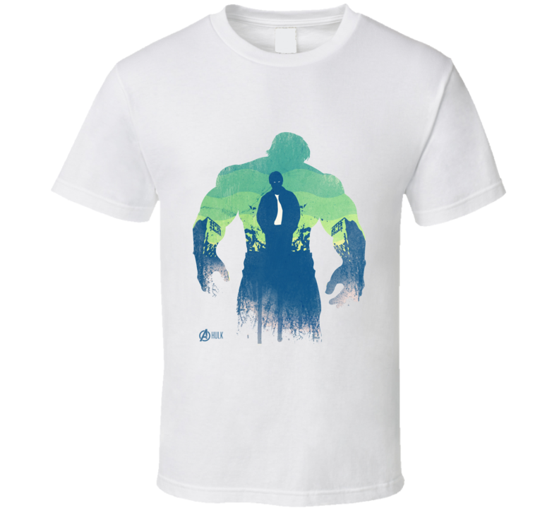 Incredible Hulk Comic Marvel Movie Avengers Silhouette T Shirt