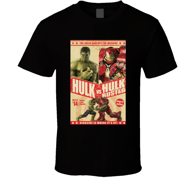 Hulkbuster Hulk Comic Marvel Movie Fight Poster Parody T Shirt