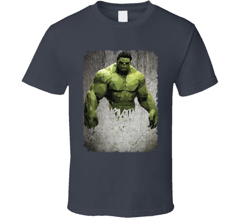 Hulk Geometrics Cool Marvel Movie Image T Shirt