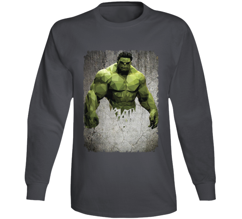 Hulk Geometrics Cool Marvel Movie Image Long Sleeve Long Sleeve