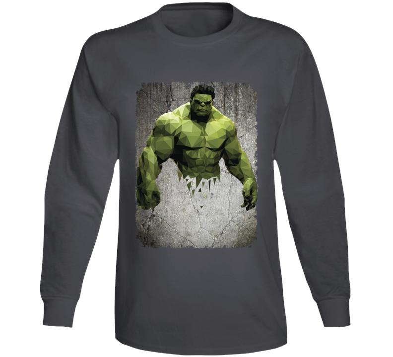 Hulk Geometrics Cool Marvel Movie Image Long Sleeve Long Sleeve