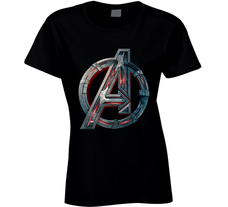 Avengers Symbol Logo Ultron Marvel Movie Assemble Ladies T Shirt