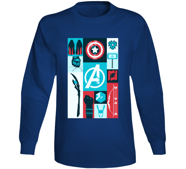 Avengers Symbols Loki Hawkeye Thor Hulk Black Widow Long Sleeve Long Sleeve