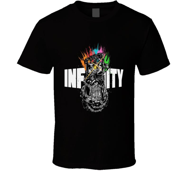 Infinity Gauntlet Art Thanos Marvel Avengers Black T Shirt
