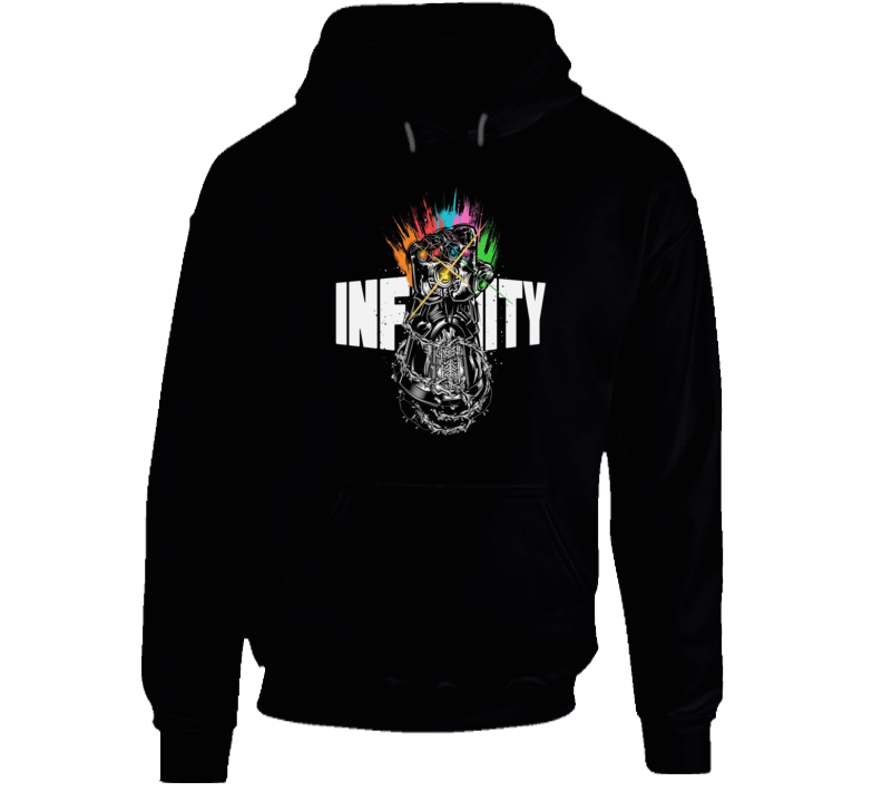 Infinity Gauntlet Art Thanos Marvel Avengers Black Hoodie