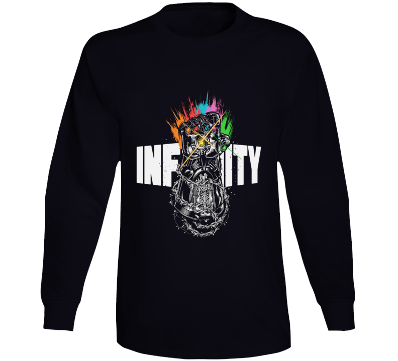Infinity Gauntlet Art Thanos Marvel Avengers Black Long Sleeve Long Sleeve