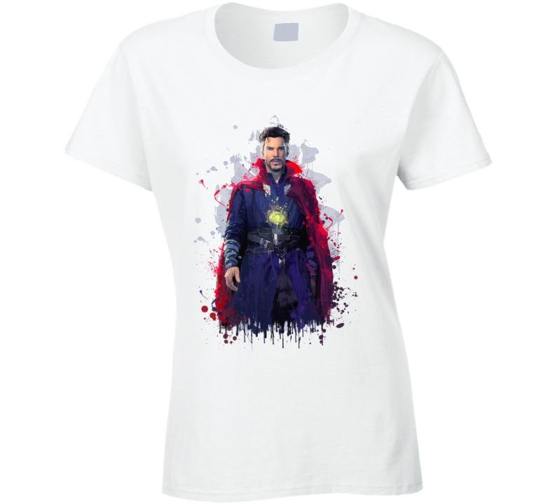 Doctor Strange Sorcerer Supreme Art Marvel Movie Ladies T Shirt