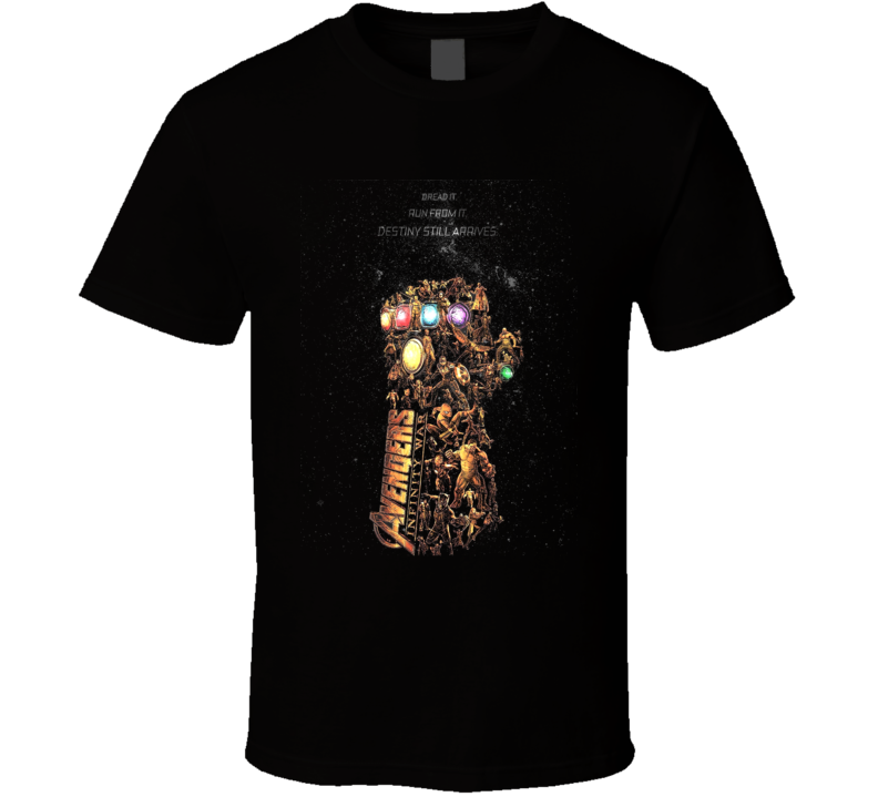 Avengers Infinity Gauntlet Art Thanos Space Black T Shirt