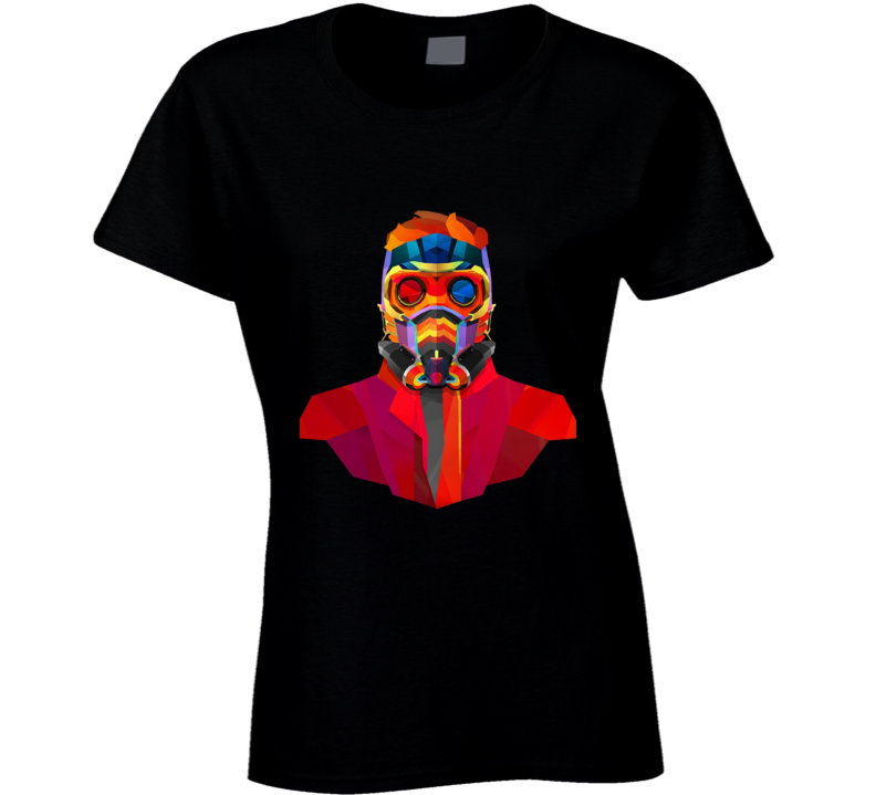 Star Lord Geometrics Guardians Galaxy Movie Comics Ladies T Shirt