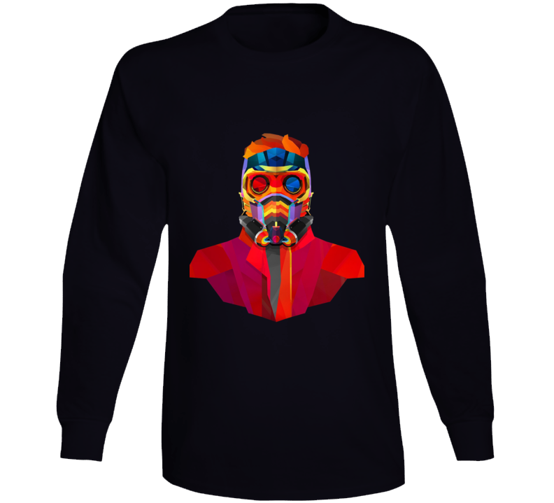 Star Lord Geometrics Guardians Galaxy Movie Comics Long Sleeve Long Sleeve