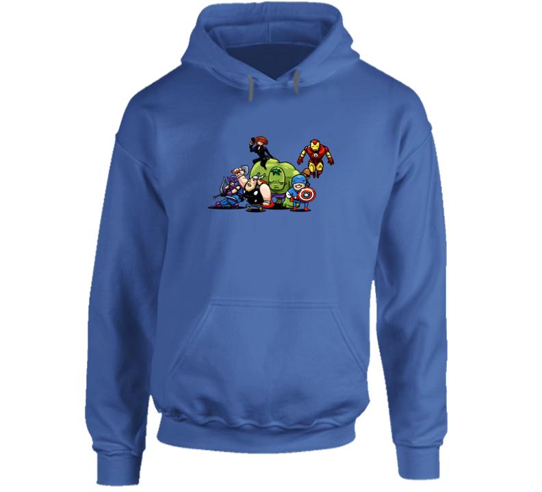 Avengers Hulk Thor Hawkeye Black Widow Funny Caricature Hoodie