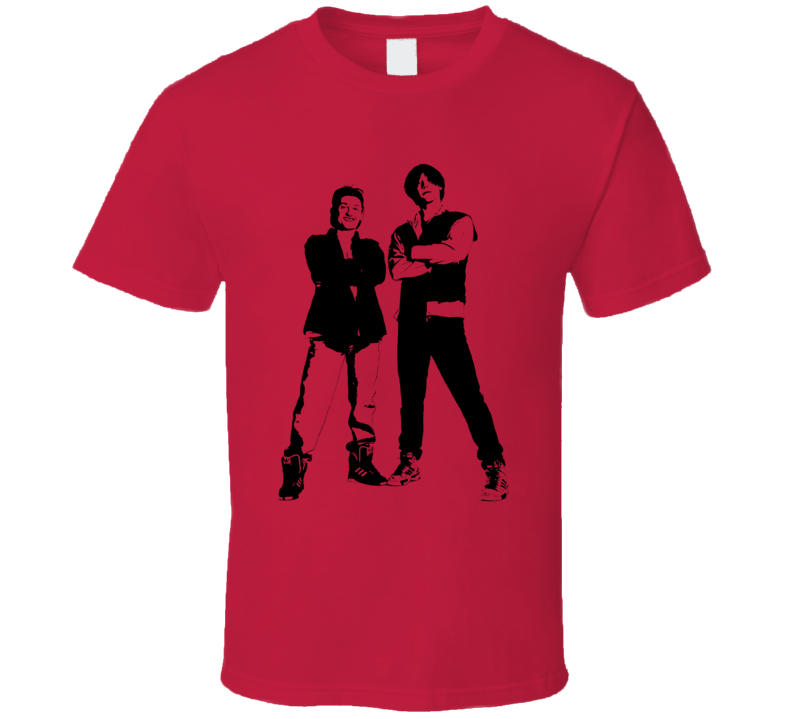 Bill And Teds Excellent Adventure Movie Stencil Keanu Reeves T Shirt