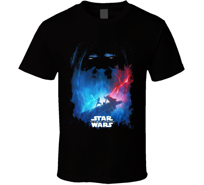 Star Wars Rise Of Skywalker Movie Poster Art Renditon Black T Shirt