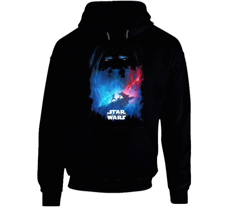 Star Wars Rise Of Skywalker Movie Poster Art Renditon Black Hoodie