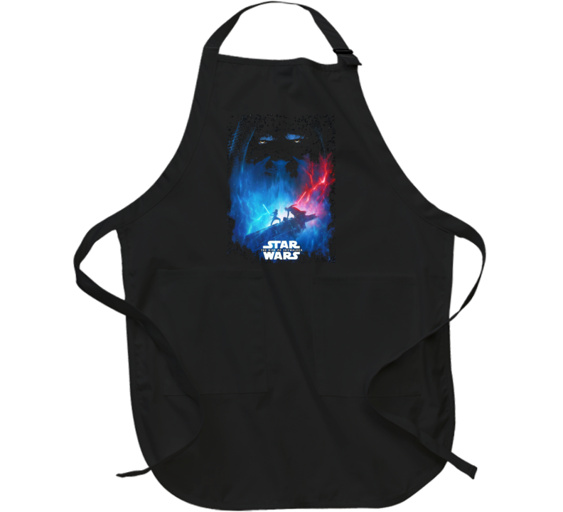 Star Wars Rise Of Skywalker Movie Poster Art Renditon Black Apron