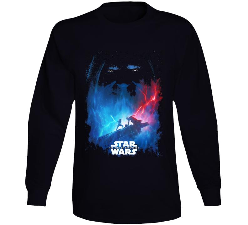 Star Wars Rise Of Skywalker Movie Poster Art Renditon Black Long Sleeve