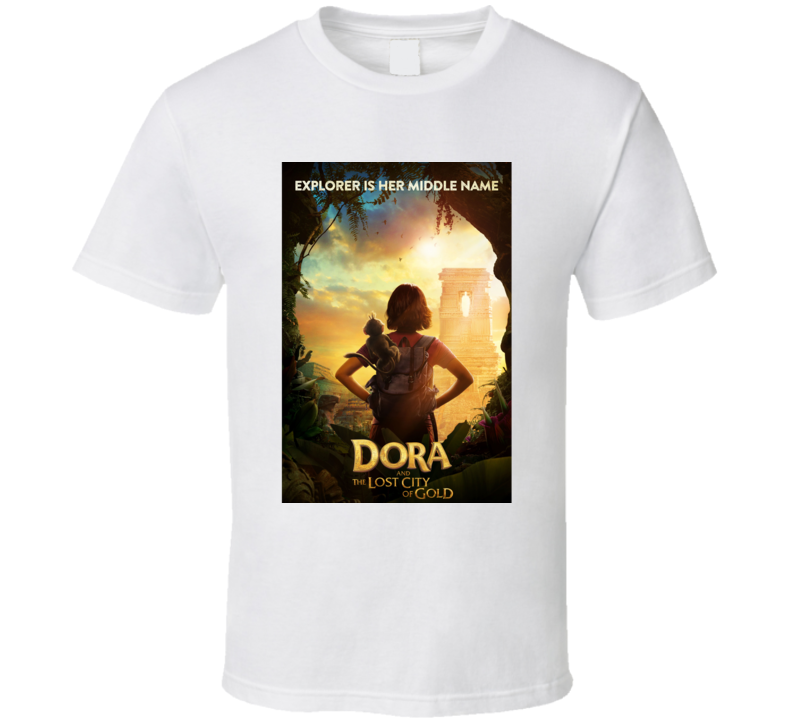 Dora Lost City Of Gold Movie Poster Explorer T Shirt