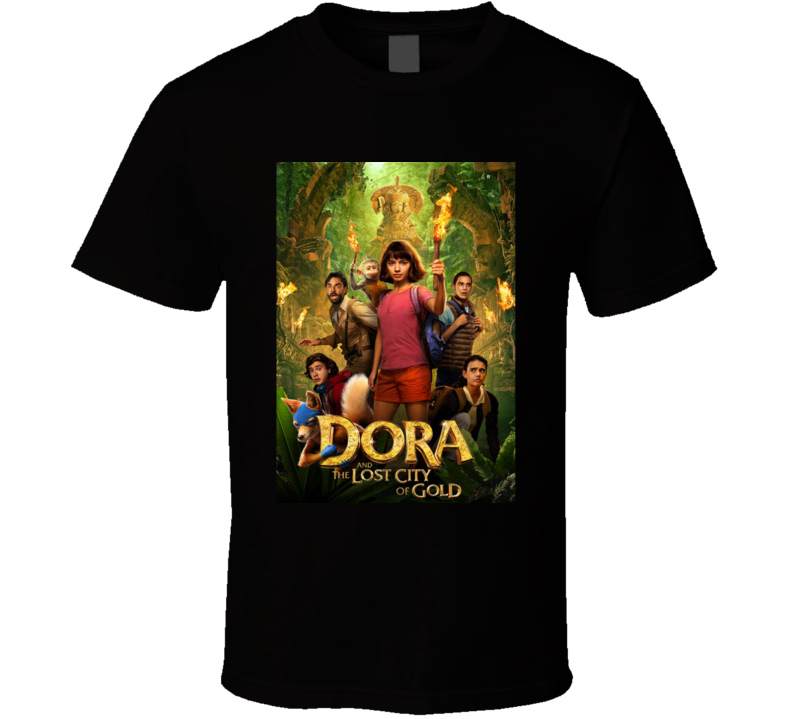 Dora Lost City Of Gold Movie Poster Explorer Diego T Shirt