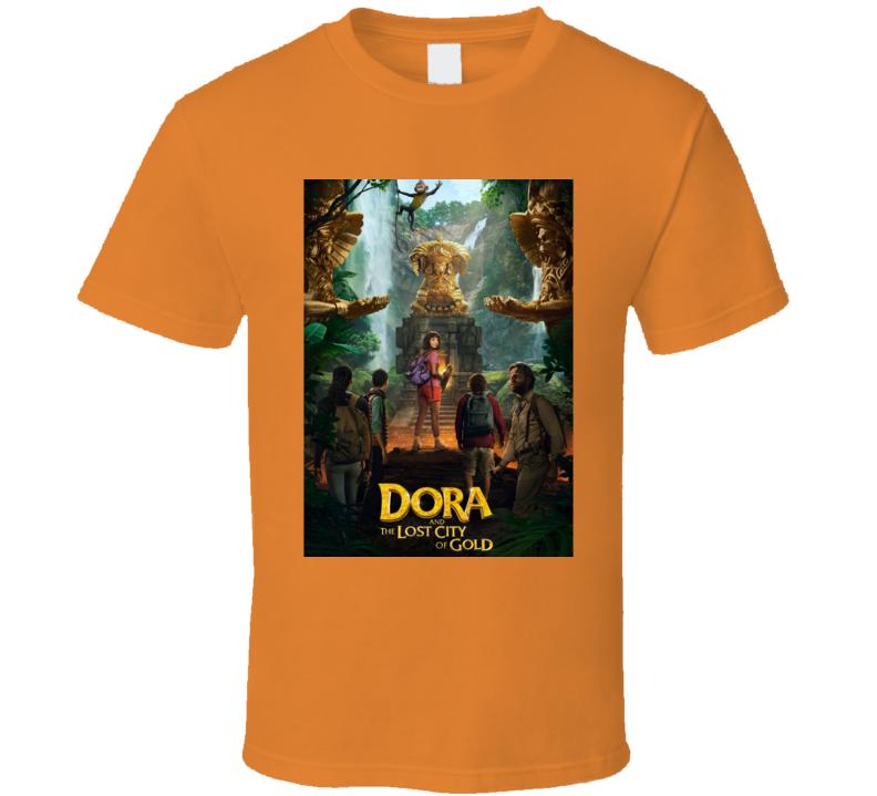 Dora Lost City Of Gold Explorer Movie Poster T Shirt