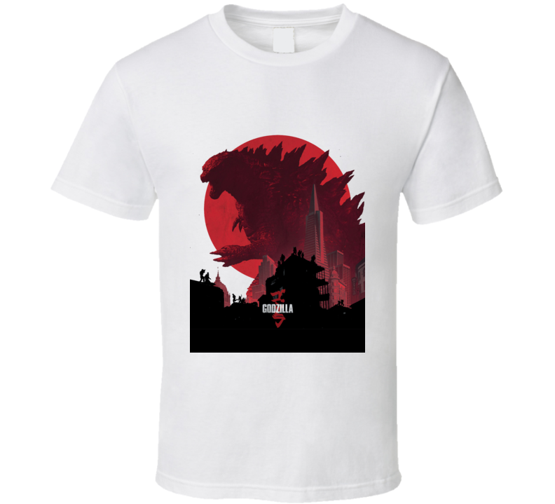 Godzilla Movie Poster King Monsters Japan White T Shirt