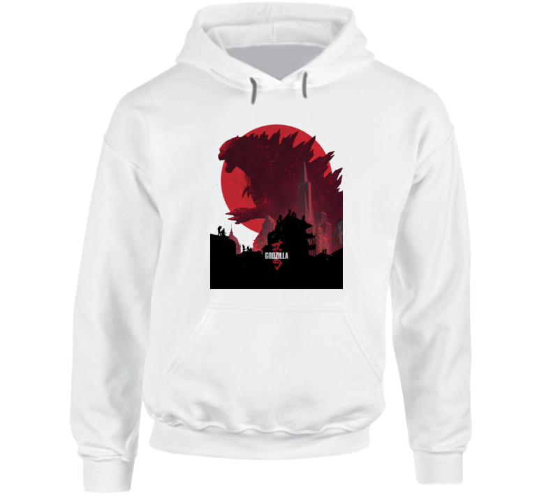 Godzilla Movie Poster King Monsters Japan White Hoodie