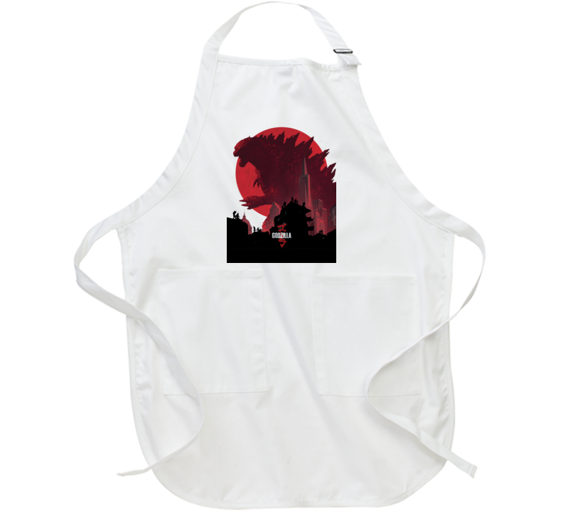 Godzilla Movie Poster King Monsters Japan White Apron
