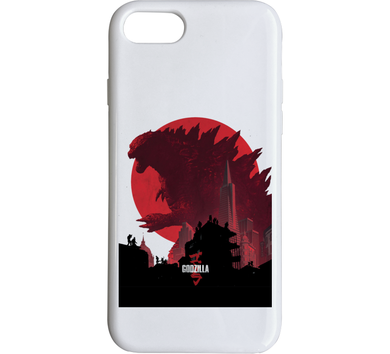 Godzilla Movie Poster King Monsters Japan White Phone Case