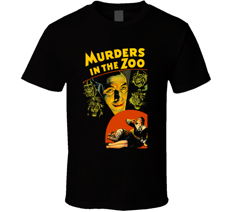 Murders in the Zoo Classic Horror Movie T Shirt