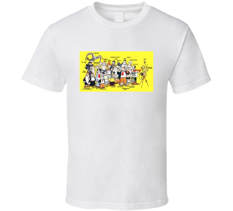 Popeye Comics Cartoon Characters Olive Oyl Bluto Wimpy Alice T Shirt