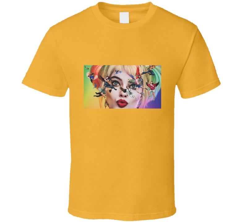 Birds Of Prey Movie Harley Quinn Face T Shirt