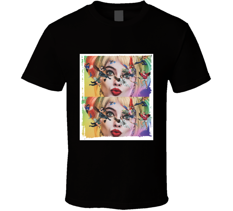 Birds Of Prey Movie Harley Quinn Face Mash Up Photo T Shirt