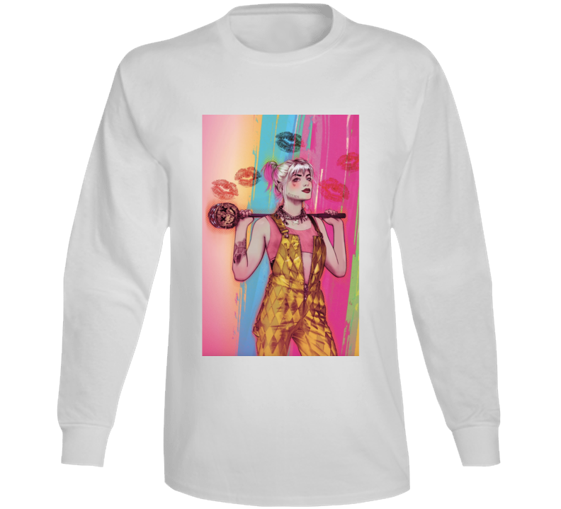 Birds Of Prey Movie Harley Quinn Art Poster Long Sleeve