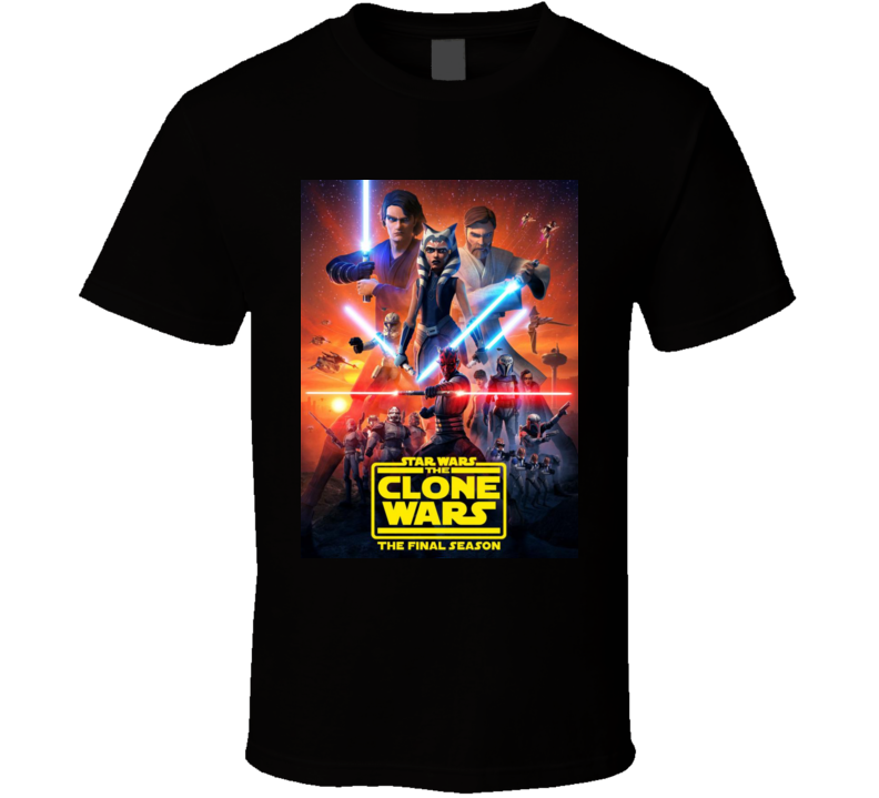 Star Wars Clone Wars Final Season 7 Anakin Ahsoka Tano Maul T Shirt