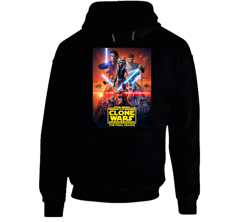 Star Wars Clone Wars Final Season 7 Anakin Ahsoka Tano Maul Hoodie