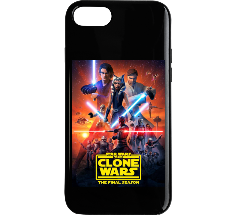 Star Wars Clone Wars Final Season 7 Anakin Ahsoka Tano Maul Phone Case