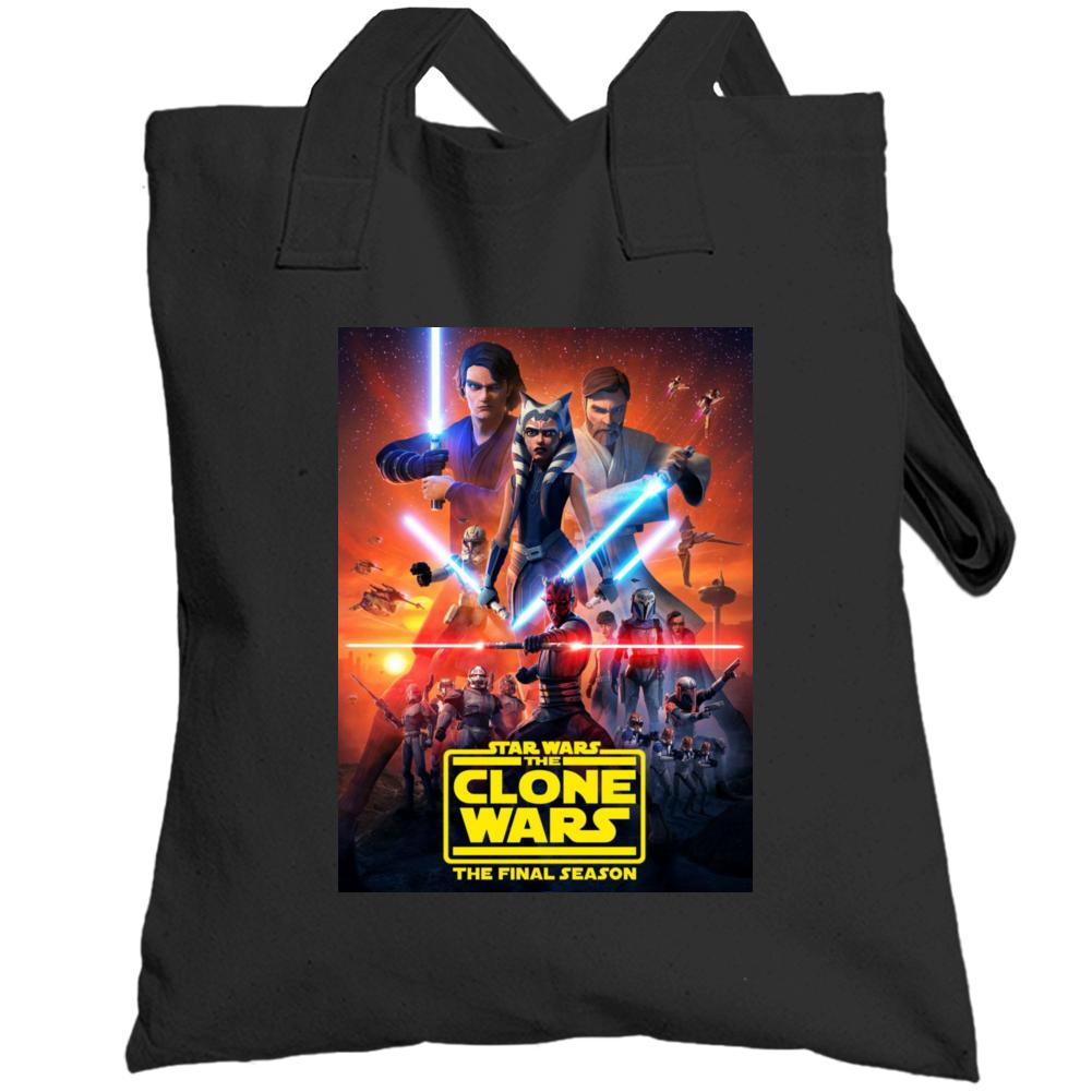 Star Wars Clone Wars Final Season 7 Anakin Ahsoka Tano Maul Totebag