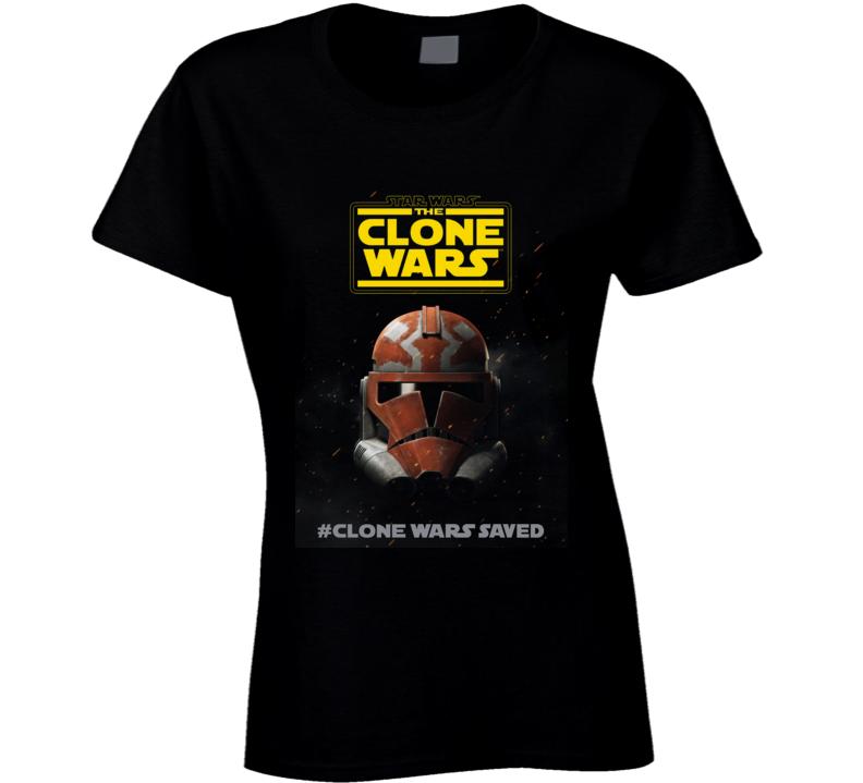 Star Wars Clone Wars Final Season 7 Trooper Helmet Ladies T Shirt