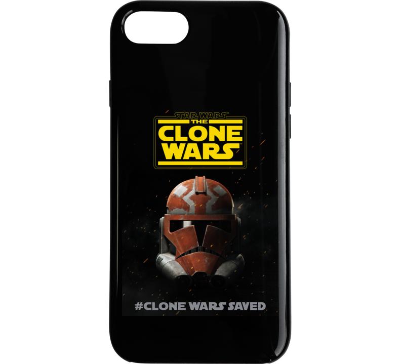 Star Wars Clone Wars Final Season 7 Trooper Helmet Phone Case