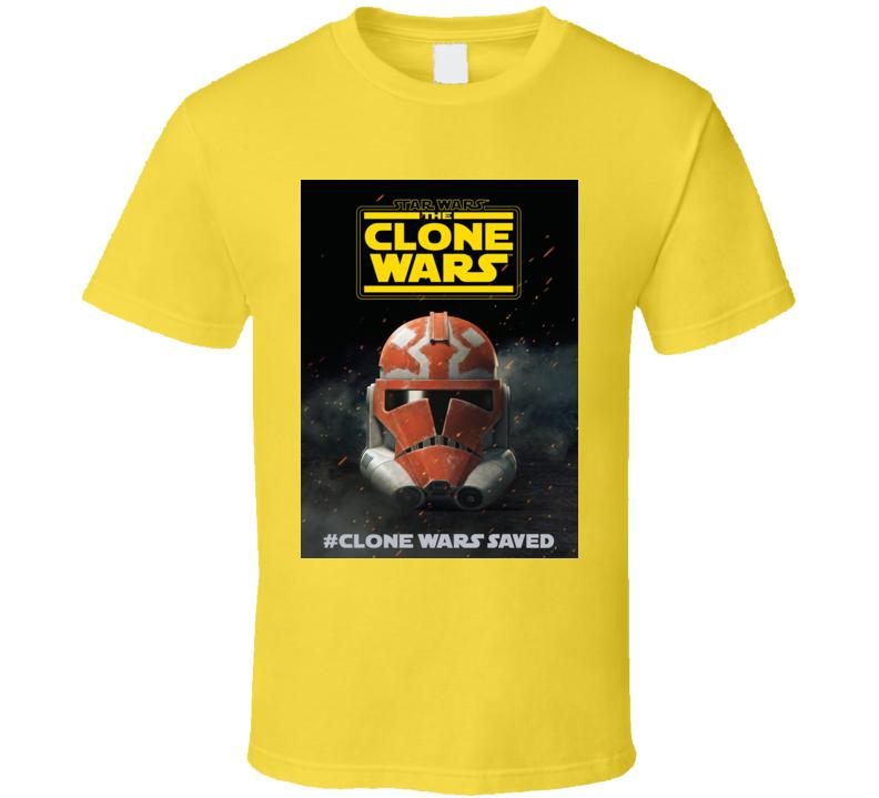 Star Wars Clone Wars Trooper Helmet Final Season Saved T Shirt