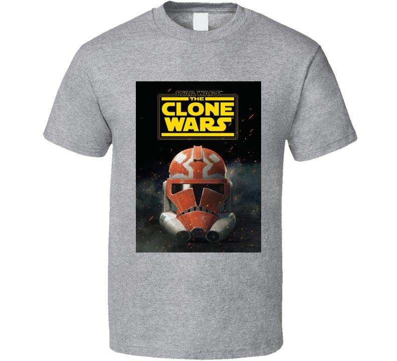 Star Wars Clone Wars Trooper Helmet Final Season Anakin T Shirt