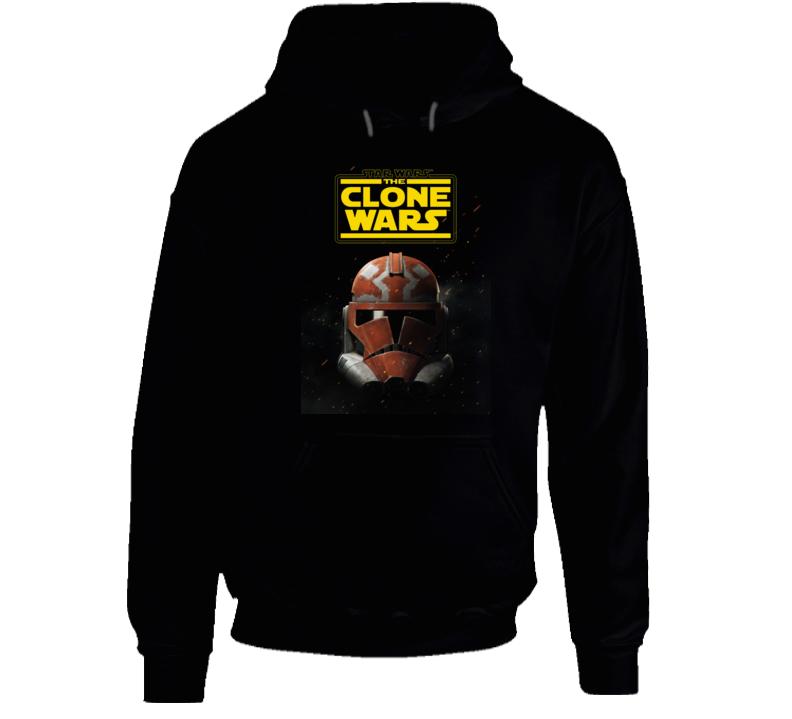 Star Wars Clone Wars Trooper Helmet Final Season Black Hoodie