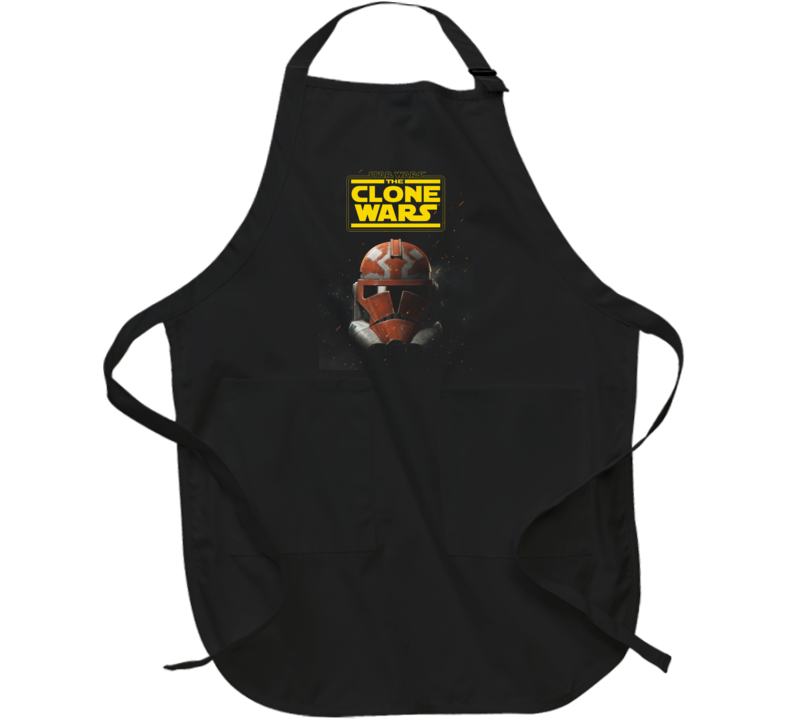 Star Wars Clone Wars Trooper Helmet Final Season Black Apron