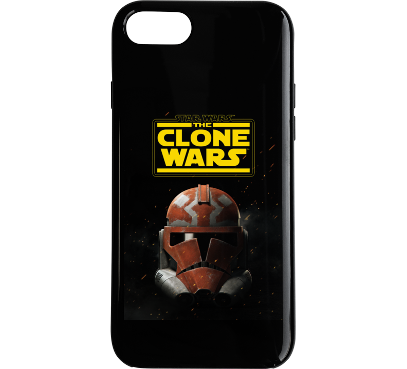 Star Wars Clone Wars Trooper Helmet Final Season Black Phone Case