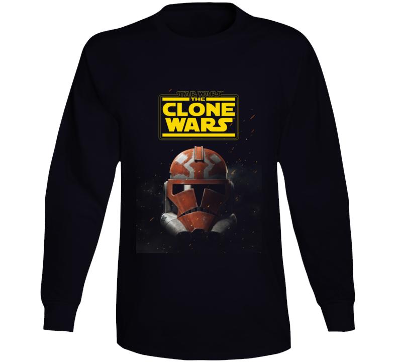 Star Wars Clone Wars Trooper Helmet Final Season Black Long Sleeve