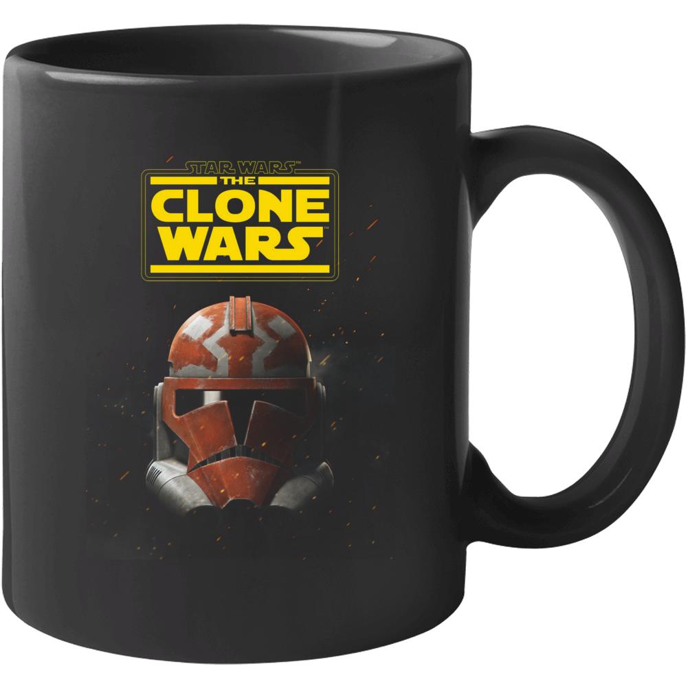 Star Wars Clone Wars Trooper Helmet Final Season Black Mug